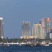 Biscayne Bay At Miami Yatch Club Art Print