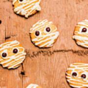 Biscuit Gathering Of Monster Mummies Art Print