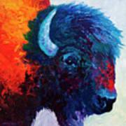Bison Head Color Study I Art Print