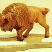Bison  Art Print by Russell Ellingsworth
