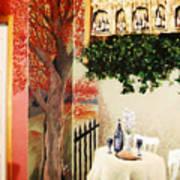 Bistro Mural Detail 2 Art Print
