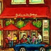Bistro On Greene Avenue In Montreal Art Print