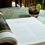 Bistro Table Study, Balcony Garden, Hunter Hill, Hagerstown, Mar Art Print