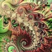 Bisymmetric Spiral Spring Art Print