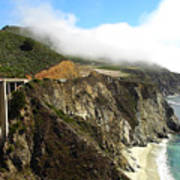 Bixby Bridge Art Print