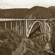 Bixby Creek Aka Rainbow Bridge Bridge Big Sur Photo  1937 Art Print