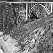 Bixby Creek Bridge Big Sur Photo  Circa 1939 Art Print