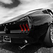 Black 1967 Mustang Art Print