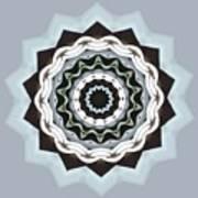 Black And Blue Mandala Art Print
