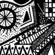 Black And White 15 Art Print