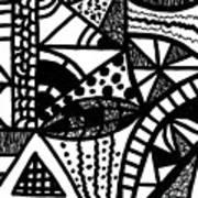 Black And White 16 Art Print