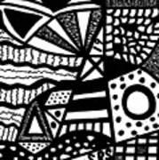 Black And White 19 Art Print