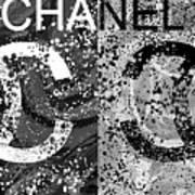 Black And White Chanel Art Art Print