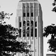 Black And White Clock Tower Art Print