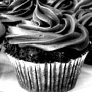 Black And White Cupcakes Art Print