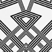 Black And White Diamond Art Print