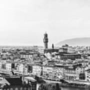 Black And White Florence Italy Art Print