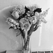 Black And White Flowers Art Print
