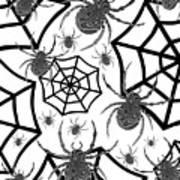 Black And White Halloween Art Print