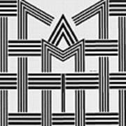 Black And White M Art Print
