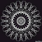 Black And White Mandala No. 1 Art Print
