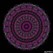 Black And White Mandala No. 3 In Color Art Print