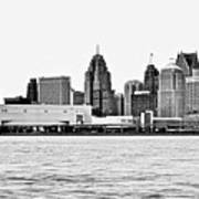 Black And White Motor City Pano Art Print