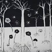 Black And White Poppies Art Print