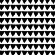 Black And White Triangles- Art By Linda Woods Art Print