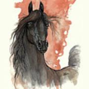Black Arabian Horse 2013 11 13 Art Print