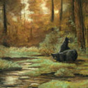 Black Bear - Autumn Art Print