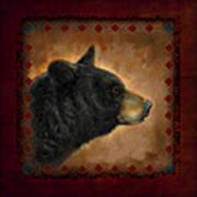 Black Bear Lodge Art Print by JQ Licensing