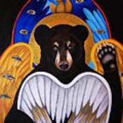 Black Bear Seraphim Art Print