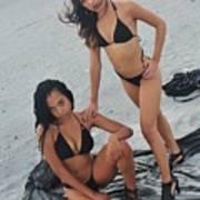 Black Bikinis 5 Art Print