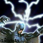 Black Bolt Art Print