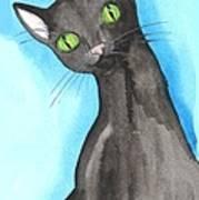 Black Cat Magic Art Print