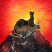 Black Cat. Mistress Of Diamond Mountain Art Print