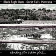 Black Eagle Dam Art Print