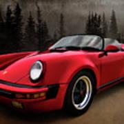 Black Forest - Red Speedster Art Print