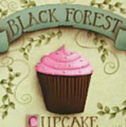Black Forest Cupcake Art Print by Catherine Holman