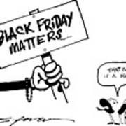 Black Friday Art Print