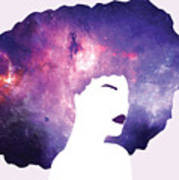Black Girl Magic Lavender Art Print