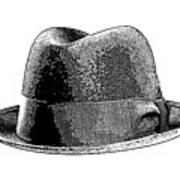 Black Hat T-shirt Art Print