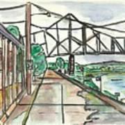 Black Hawk Bridge Art Print