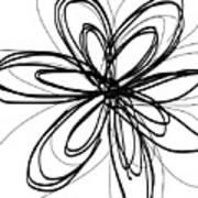 Black Ink Flower 1- Art By Linda Woods Art Print