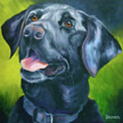 Black Lab Forever Print by Susan A Becker