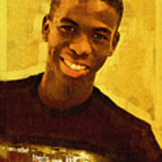 Young Black Male Teen 2 Art Print