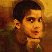 Young Black Male Teen 3 Art Print
