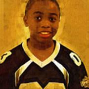 Young Black Male Teen 6 Art Print