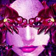 Black Orchid Eyes Art Print